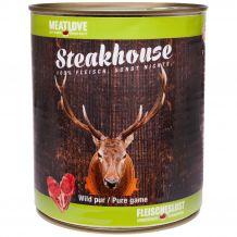 Fleischeslust - Nassfutter - Steakhouse Wild Pur 820g