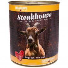 Fleischeslust - Nassfutter - Steakhouse Ziege Pur 820g