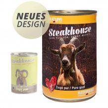 Fleischeslust - Nassfutter - Steakhouse Ziege Pur