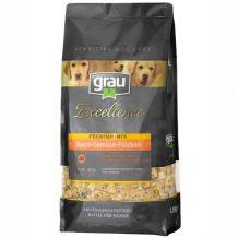 grau - Ergänzungsfutter - Premium-Mix Basis-Gemüse-Flocken