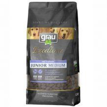 grau - Trockenfutter - Excellence Junior Medium mit Truthahn