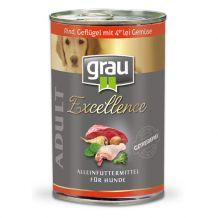 Grau - Rind, Geflügel und 4er-lei Gemüse 400g