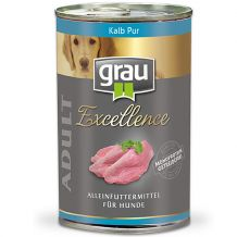 grau - Nassfutter - Excellence Adult Kalb Pur 6 x 400g