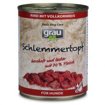 Grau - Schlemmertopf - Nassfutter - Rind mit Vollkornreis - 400g