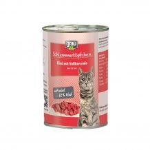 grau - Nassfutter - Schlemmertöpfchen Rind mit Vollkornreis 400g