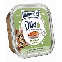 Happy Cat - Nassfutter - Duo Häppchen auf Paté Geflügel und Lamm