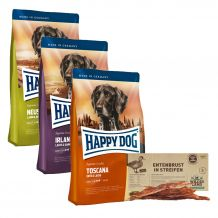 Happy Dog - Trockenfutter - Supreme Sensible premium Packet 3 x 4kg + Snack