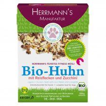 Herrmann's - Trockenfutter - Fitnessmüsli Bio-Huhn mit Reisflocken und Zucchini 500g