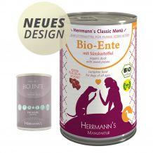 Herrmann's - Nassfutter - Bio-Ente mit Süßkartoffeln  400g