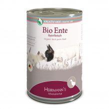 Herrmanns - Nassfutter - Bio-Ente Reinfleisch 400g (getreidefrei)
