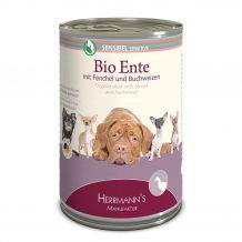 Herrmanns - Nassfutter - Selection Sensibel Bio-Ente mit Fenchel und Buchweizen 400g (glutenfrei)