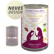 Herrmann's - Nassfutter - Bio-Gans mit Bio-Buchweizen 400g