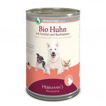 Herrmanns - Nassfutter - Selection Erwachsen Bio-Huhn mit Fenchel, Zucchini und Buchweizen 400g (glutenfrei)