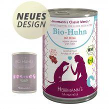 Herrmann's - Nassfutter - Bio-Huhn mit Hirse 400g