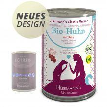 Herrmann's - Nassfutter - Bio-Huhn mit Reis 400g