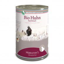 Herrmanns - Nassfutter - Bio-Huhn Reinfleisch 400g (getreidefrei)