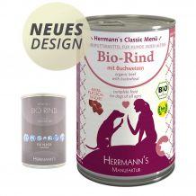 Herrmann's - Nassfutter - Bio-Rind mit Buchweizen 400g