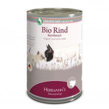 Herrmanns - Nassfutter - Bio-Rind Reinfleisch 400g (getreidefrei)