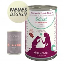 Herrmann's - Nassfutter - Bio-Schaf mit Haferflocken 400g