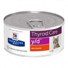 Hill's - Nassfutter - Prescription Diet Feline Thyroid Care y/d mit Huhn 156g