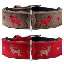 HUNTER - Hundehalsband My Deer - aus Filz mit Hirsch-Stickerei