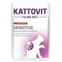 Kattovit - Nassfutter - Feline Diet Sensitive mit Huhn und Ente