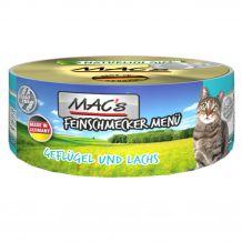 Mac's - Nassfutter - Feinschmecker Geflügel und Lachs