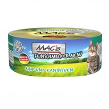 Mac's - Nassfutter - Feinschmecker Rind, Kaninchen und Ei