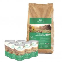Müllers Naturhof - Trockenfutter - Premium Paket Huhn 15kg + Nassfutter 6 x 400g