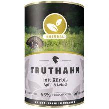 Natural - Nassfutter - Truthahn mit Kürbis, Apfel und Leinöl 400g (getreidefrei)