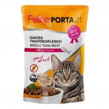 Porta 21 - Nassfutter - Thunfisch mit Surimi Krebsfleisch im Pouchbeutel (getreidefrei)