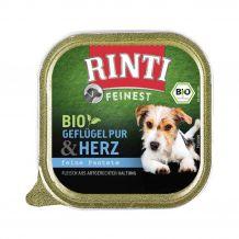 Rinti - Nassfutter - Bio Geflügelherzen 11 x 150g