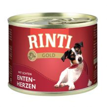 Rinti - Nassfutter - Gold Entenherzen (getreidefrei) 185g