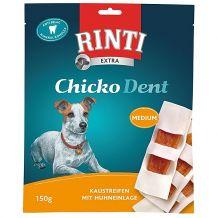 Rinti - Kausnack - Extra Chicko Dent Medium Kaustreifen mit Huhneinlage