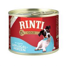 Rinti - Nassfutter - Gold Geflügelherzen 6 x 185g