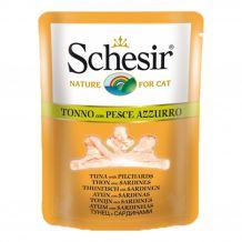 Schesir - Nassfutter - Brühe Thunfisch mit Sardinen Pouch