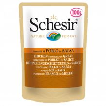 Schesir - Nassfutter - Sauce Hühnchengeschnetzeltes Pouch 6 x 100g