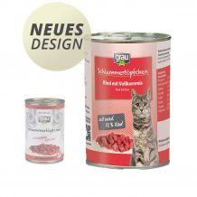 grau - Nassfutter - Schlemmertöpfchen Rind mit Vollkornreis Neues Design