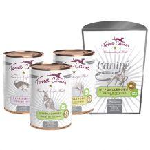 Terra Canis - Nassfutter - Hypoallergen Premium Paket 18 x 400g + Canipe 200g