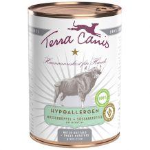 Terra Canis - Nassfutter - Hypoallergen Wasserbüffel mit Süßkartoffel 6 x 400g (getreidefrei)