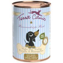 Terra Canis - Nassfutter - Welpe Geflügel mit Kürbis, Kamille & Blütenpollen 400g (glutenfrei)