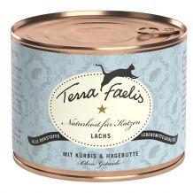 Terra Faelis - Nassfutter - Lachs mit Kürbis & Hagebutte 6 x 200g