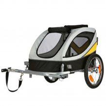 Trixie - Fahrrad-Anhänger - grau/schwarz/gelb L