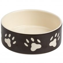 Trixie - Hundezubehör - Keramiknapf mit Pfoten braun/creme