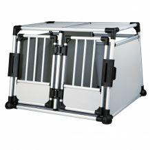 Trixie - Transportbox - Aluminium doppelt