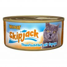 Wildcat - Nassfutter - Skipjack Thunfischfilet mit Papaya (getreidefrei)