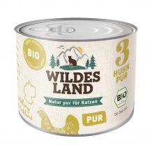 Wildes Land - Nassfutter - Bio Huhn PUR 200g (getreidefrei)