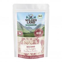 Wildes Land - Nassfutter - Bio Rind mit Kartoffeln Pouch