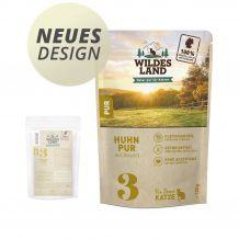 Wildes Land - Nassfutter - Huhn PUR mit Distelöl - Pouch 100g