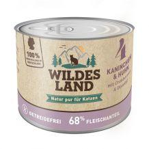 Wildes Land - Nassfutter - Kaninchen und Huhn mit Distelöl 200g